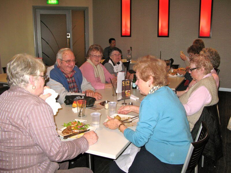 Social lunches at nearby clubs and restaurants