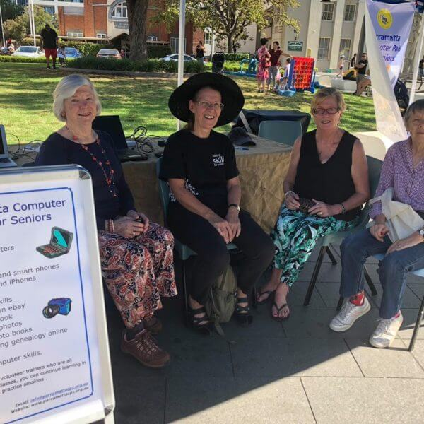 PCPS at Seniors festival activities in Centenary Square